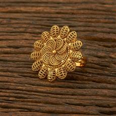 208302 Antique Plain Ring With Gold Plating