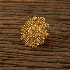 208303 Antique Plain Ring With Gold Plating