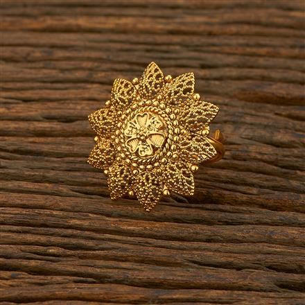 208304 Antique Plain Ring With Gold Plating
