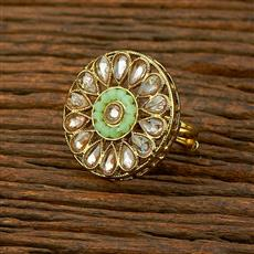 208320 Antique Classic Ring With Mehndi Plating
