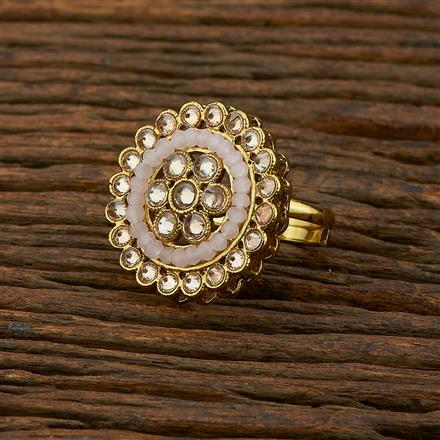 208324 Antique Classic Ring With Mehndi Plating