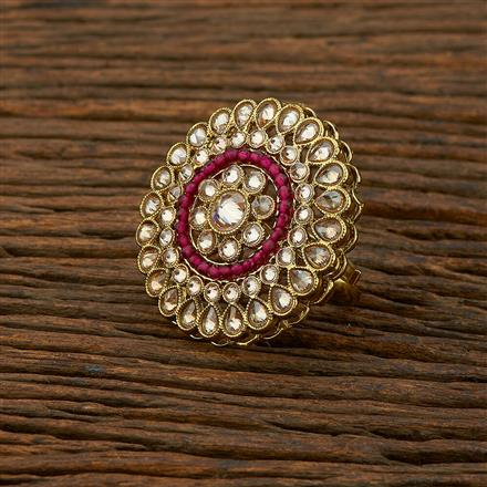 208326 Antique Classic Ring With Mehndi Plating