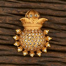 208329 Antique Classic Brooch With Matte Gold Plating