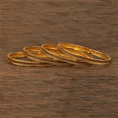 208330 Antique Delicate Bangles With Gold Plating