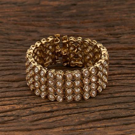 208346 Antique Adjustable Bracelet With Mehndi Plating