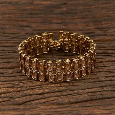 208347 Antique Adjustable Bracelet With Mehndi Plating