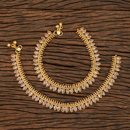 208349 Antique Classic Payal With Gold Plating