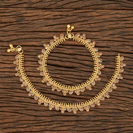208350 Antique Classic Payal With Gold Plating