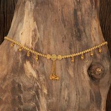 208356 Antique Plain Kamar Patta With Gold Plating