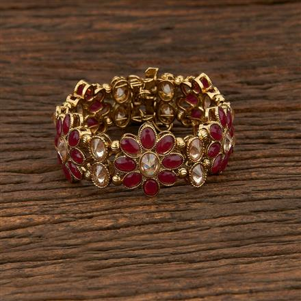 208372 Antique Adjustable Bracelet With Mehndi Plating