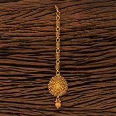 208381 Antique Plain Tikka With Gold Plating