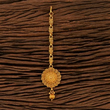 208382 Antique Plain Tikka With Gold Plating
