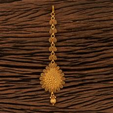 208383 Antique Plain Tikka With Gold Plating