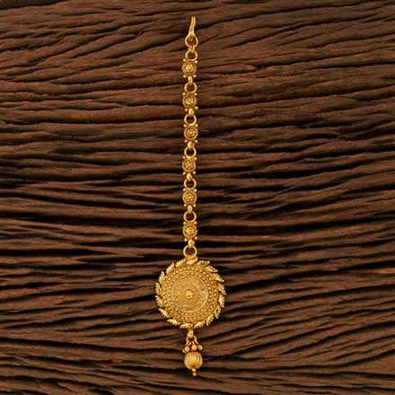 208385 Antique Plain Tikka With Gold Plating