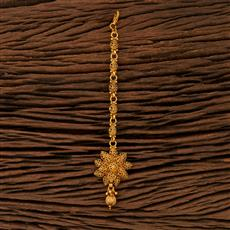 208386 Antique Plain Tikka With Gold Plating