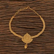 208389 Antique Plain Baju Band With Gold Plating