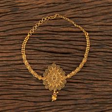 208391 Antique Plain Baju Band With Gold Plating