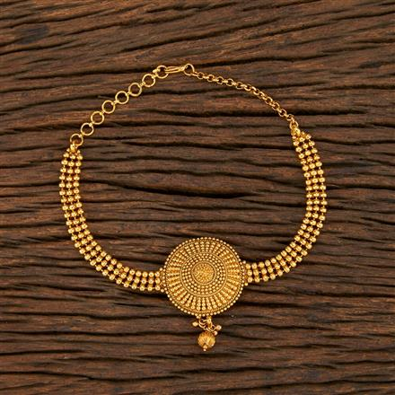 208392 Antique Plain Baju Band With Gold Plating