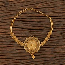 208393 Antique Plain Baju Band With Gold Plating