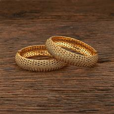 208401 Antique Plain Bangles With Gold Plating