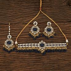 208415 Antique Choker Necklace With Mehndi Plating