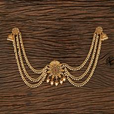 208430 Antique Earring With Hair Clips With Gold Plating