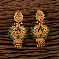 208449 Antique Temple Earring With Gold Plating