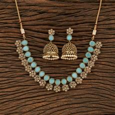 208461 Antique Classic Necklace With Mehndi Plating