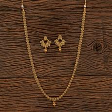 208473 Antique Long Necklace With Gold Plating
