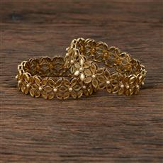 208557 Antique Classic Bangles With Mehndi Plating