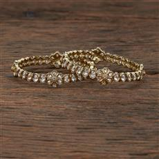 208558 Antique Delicate Bangles With Mehndi Plating