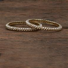 208559 Antique Delicate Bangles With Mehndi Plating