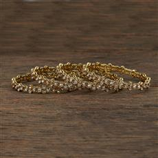 208635 Antique Delicate Bangles With Mehndi Plating