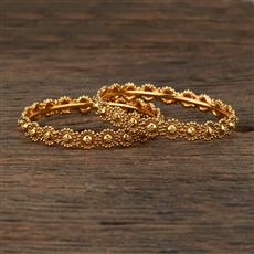 208636 Antique Plain Bangles With Gold Plating