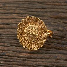 208640 Antique Delicate Ring With Gold Plating