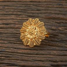 208641 Antique Delicate Ring With Gold Plating