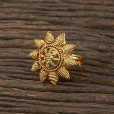 208643 Antique Delicate Ring With Gold Plating