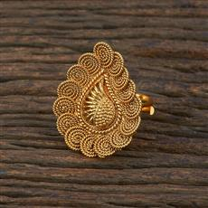 208644 Antique Delicate Ring With Gold Plating