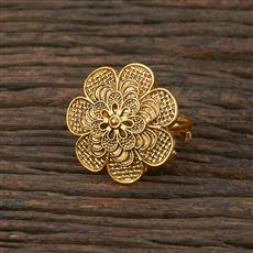 208646 Antique Delicate Ring With Gold Plating