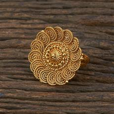 208647 Antique Delicate Ring With Gold Plating