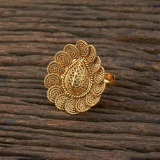 208648 Antique Delicate Ring With Gold Plating