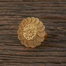 208650 Antique Delicate Ring With Gold Plating
