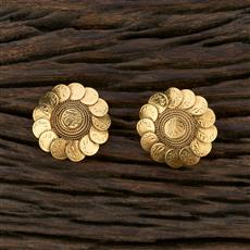 208659 Antique Temple Earring With Gold Plating