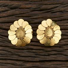 208662 Antique Temple Earring With Gold Plating