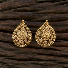 208663 Antique Plain Earring With Gold Plating