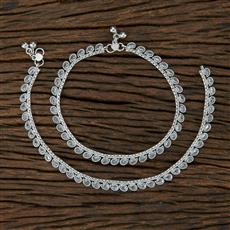208666 Antique Classic Payal With Rhodium Plating