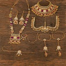 208679 Antique Bridal Sets With Gold Plating