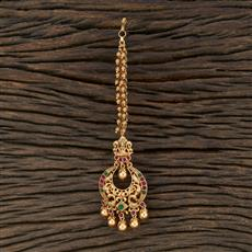 208704 Antique Chand Tikka With Matte Gold Plating