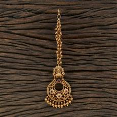 208705 Antique Chand Tikka With Matte Gold Plating