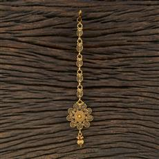 208708 Antique Plain Tikka With Gold Plating